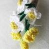 ช่อดอกไม้ติดเสื้อเจ้าบ่าว/เพื่อนเจ้าบ่าวงานแต่งงานถักโครเชต์ boutonniere chochet