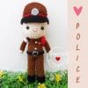 ตุ๊กตาถัก ตำรวจ 6 นิ้ว