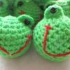 พวงกุญแจหัวตุ๊กตาเคโระถักโครเชต์ keroro crochet keychain