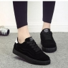 รองเท้าผ้าใบ ผู้หญิง แบบเชือกผูก รองเท้า วัยรุ่น รองเท้าหุ้มส้น สีดำ เท่ ๆ ดีไซน์ ลายเส้น รองเท้าใส่เที่ยว ออกกำลังกาย แบบสปอร์ต 131001_5