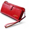 กระเป๋าสตางค์ผู้หญิง ใบยาว กระเป๋าสตางค์หนังวัวแท้ แข็งแรง ทนทาน สีแดง และ สีดำ ใส่บัตรได้เยอะ ช่องซิปแยกด้านนอก สวยหรู 837114