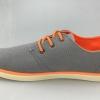 รองเท้าผ้าใบ ผู้ชาย รองเท้าใส่เที่ยว รองเท้าหุ้มส้น ผ้าแคนวาส หรือ ผ้ายีนส์ สีเทา เชือกสีส้ม ได้อย่างลงตัว รองเท้าแบบ sport ใส่เที่ยว 594653_2