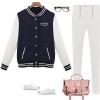 เสื้อ แจ็คเก็ต ผู้หญิง สไตล์ เสื้อ เบสบอล สีน้ำเงิน กรมท่า เสื้อ jacket แฟชั่น สาวยุโรป ใส่เที่ยว ใส่กันแดด แบบสวย ดีไซน์เก๋ 213836