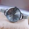 นาฬิกาข้อมือ ผู้หญิง ใส่เที่ยว ใส่ทำงาน นาฬิกาข้อมือ สาย Stainless แท้ แบบ สายเส้นเล็ก หน้าปัด สีเงิน ทอง แดง ดำ เรียบหรู มีระดับ 983075