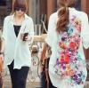 เสื้อแขนยาว สีขาว เนื้อผ้า ชีฟอง ใส่เป็นเสื้อคลุม ปริ้นลาย ดอกไม้ด้านหลัง แบบสวย สไตล์ เกาหลี no 33236