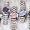 นาฬิกาข้อมือ ผู้หญิง ใส่ทำงาน นาฬิกาข้อมือ สายสแตนเลสแท้ หน้าปัด สีฟ้า ชมพู ขาว นาฬิกา ใส่ทำงาน สวย ๆ 139306