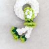 พวงมาลัยถักสีเขียว garland crochet