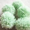 ปอมปอมไหมพรมสีเขียวอ่อน ขนาด 2 นิ้ว pompoms crochet
