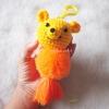 พวงกุญแจปอมปอมหมีพูห์ pompoms pooh crochet keychain