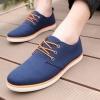 รองเท้าผ้าใบ ผู้ชาย รองเท้าใส่เที่ยว รองเท้าหุ้มส้น ผ้าแคนวาส หรือ ผ้ายีนส์ สีน้ำเงิน ตัดกับสีส้ม ได้อย่างลงตัว รองเท้าแบบ sport ใส่เที่ยว 594653_1