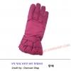 ถุงมือกันหนาวผ้า หญิง สีชมพู