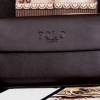 กระเป๋าสตางค์หนังแท้ กระเป๋าถือ ผู้ชาย แบบคลัช กระเป๋าสตางค์ polo ใบใหญ่ ใส่ของได้เยอะ สีน้ำตาลเข้ม กระเป๋าสตางค์ นักธุรกิจ สุดหรู 600987
