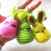 พวงกุญแจกระต่าย 3 นิ้ว rabbits amigurumi crochet keychain 3 inches