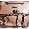 กระเป๋าถือ กระเป๋าสะพาย Jimmy สีชมพู หนังนิ่ม กระเป๋าถือผู้หญิง มีสายสะพาย ใส่ของได้เยอะ สินค้าลดราคา Sa0012