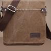 กระเป๋าสะพายข้าง กระเป๋า ผ้าแคนวาส ผ้ายีนส์ ผู้ชาย ใส่ของกระจุกกระจิก กระเป๋าสะพาย แนวตั้ง ใส่ Ipad ได้ แต่ง ตะเข็บ แบบเท่ ๆ มีดีไซน์ 713125