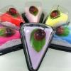 เครปเค้กผ้าขนหนู เซอร์ไพร์สวันพิเศษ (วันเกิด,วันวาเลนไทน์,วันแห่งความรัก) สีม่วง