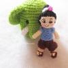 ตุ๊กตาเด็กไทยถักโครเชต์ ขนาด 3 นิ้ว thai doll amigurumi crochet 3 inches
