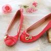 รองเท้าหุ้มส้นผู้หญิง หนัง pu ดีไซน์ เก๋ ตกแต่ง คริสตัล แอปเปิ้ล ด้านหน้ารองเท้า รองเท้าผู้หญิง ไม่มีส้น สีพื้น สีแดง 94339_2