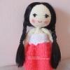 ตุ๊กตาเด็กผู้หญิงถัก ขนาด 10 นิ้ว