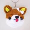 พวงกุญแจหัวตุ๊กตาหมาน่ารัก สูง 2 นิ้ว amigurumi crochet keychain