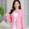 เสื้อสูท เสื้อแจ็คเก็ต เสื้อคลุม แบบสูท สูทผู้หญิง แขนยาว สีชมพู อ่อน สาวหวาน สูท ใส่ทำงาน เสื้อ jacket ผู้หญิง แบบสูท มีดีไซน์ 708280_1