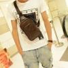 กระเป๋าคาดอก ผู้ชาย กระเป๋าคาดด้านหน้า โชว์ลายหนัง สุดคลาสสิค สีน้ำตาล และ สีดำ วัสดุ คุณภาพดี กันน้ำได้ ราคาถูก 919136