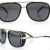 แว่นตากันแดด แบบ iron man ที่ tony stark ใส่ แว่นตาดำ ปิดขอบ สินค้า นำเข้า ญี่ปุ่น no 81460
