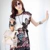 เสื้อแฟชั่น ผู้หญิง ตัวยาว ผ้าชีฟอง สไตล์วินเทจ ใส่หลวม ๆ เสื้อผู้หญิง ตัวยาว แฟชั่นเกาหลี พริ้นท์ลาย 211798