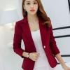 เสื้อสูทผู้หญิง แขนยาว สีแดง เลือดหมู โก้หรู ดูดี มีสไตล์ เสื้อสูท ใส่ทำงาน แบบสวย มีดีไซน์ เสื้อ Jacket เสื้อคลุม สำหรับสาวออฟฟิต 877711_4