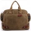 กระเป๋าสะพายข้าง กระเป๋า ผ้าแคนวาส ใส่เอกสาร ใส่ Notebook กระเป๋าอเนกประสงค์ แนวเซอร์ ๆ ใช้ได้ทุกสถานการณ์ สีดำ น้ำตาล หลากสี 528113