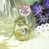นาฬิกาพก,นาฬิกาสร้อยคอสไตล์วินเทจฝาหน้ารูปหัวใจตัวเลขโรมัน