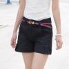 กางเกงขาสั้น กางเกงผู้หญิง ขาสั้น แฟชั่น ดีไซน์ สีดำ ตีเกล็ด ด้านข้าง กางเกง 2 ข้าง กางเกงขาสั้นทรงเอ แฟชั่น ใส่เที่ยว วันสบาย ๆ 601573