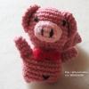 หมูถักโครเชต์ ขนาด 4 นิ้ว Pig amigurumi crochet dolls