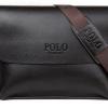 กระเป๋าสะพายข้างผู้ชาย กระเป๋าสะพาย Polo แบบ แนวนอน สีดำ และ สีน้ำตาล กระเป๋าใส่เอกสาร หนัง Pu ทนทาน กันน้ำ ใส่ ipad ได้ แบบหรู 800261