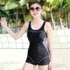 ชุดว่ายน้ำ วันพีช แบบ สปอร์ต สีน้ำเงิน ดีไซน์ เป็น กางเกงขาสั้น ชุดว่ายน้ำเล่น วัลเล่ย์บอล ชายหาด สีดำ ใส่สบาย อย่างมั่นใจ 87560