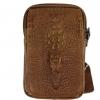 กระเป๋าคาดเอว หนังแท้ ลาย ตัวจรเข้ หัวจรเข้ นูน 3 มิติ กระเป๋าใส่โทรศัพท์ ผู้ชาย แบบคาดเอว ได้ สีดำ สีน้ำตาล 924649