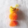 พวงกุญแจปอมปอมหมีพู pompoms pooh crochet keychain
