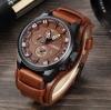 นาฬิกาข้อมือ ผู้ชาย ผู้หญิง ใส่ได้ นาฬิกา สายหนังแท้ แบบสปอร์ต หน้าปัดใหญ่ เข็มเรืองแสง มีระบบวันที่ 641913