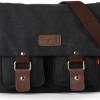 กระเป๋าสะพายข้างผู้ชาย ผ้า canvas ผ้ายีนส์ กระเป๋าใส่หนังสือ ไปเรียนมหาลัย กระเป๋าสะพายข้างอย่างดี หนา ใช้งานทนทาน ราคาถูก สีดำ no 915363_1