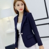 เสื้อสูทผู้หญิง แขนยาว สีน้ำเงิน กรมท่า เสื้อสูท ใส่ทำงาน แบบสวย มีดีไซน์ เสื้อ Jacket เสื้อคลุม แบบสูท สำหรับสาวออฟฟิต 877711_1
