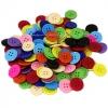 กระดุมพลาสติก คละสี 18 มิล (250 กรัม)