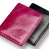 กระเป๋าสตางค์หนังแท้ กระเป๋าสตางค์ผู้หญิง ผู้ชาย หนังวัวแท้ oil wax สุดหรู สีดำ ผู้ชาย สีชมพูผู้หญิง แบบเรียบหรู มีระดับ 250657