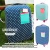 Luggage protective cover 18 - 30 นิ้ว ถุงคลุมกระเป๋าเดินทาง ผ้าคลุมกระเป๋าเดินทาง กันรอย กันฝุ่น - ลายจุด