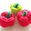 พริกหวานถักโครเชต์ Bell pepper crochet