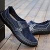 รองเท้าผ้าใบ ผู้ชาย รองเท้าหุ้มส้น แบบไม่มีเชือก รองเท้าผู้ชาย สวม หนังแท้ ดีไซน์ รูระบายอากาศ รองเท้าใส่เที่ยว เท่ ๆ 854387
