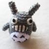 พวงกุญแจแมวโทโทโร่ถัก Totoro amigurumi crochet keychain