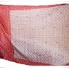 ผ้านวมผ้าซาติน 6 ฟุตสีแดงอ่อน ใช้เป็นผ้าคลุมเตียงได้