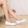 รองเท้าหุ้มส้น สีขาว รองเท้า นางพยาบาล แบบสวย ดูดี มีสไตล์ รองเท้าหนัง ผสม ผ้าแคนวาส ส้นแบน แบบ เรียบร้อย 49941