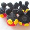 พวงกุญแจหัวตุ๊กตามิกกี้เม้าส์ถักโครเชต์ mickey mouse crochet keychain