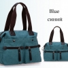 กระเป๋าสะพายข้าง กระเป๋าถือ ผ้าแคนวาส กระเป๋าผู้หญิง แฟชั่น เท่ ๆ แนวสปอร์ต ผ้ายีนส์ ใบใหญ่ ใส่หนังสือ ร่ม จุของได้เยอะ สีฟ้า แดง น้ำตาล 658964